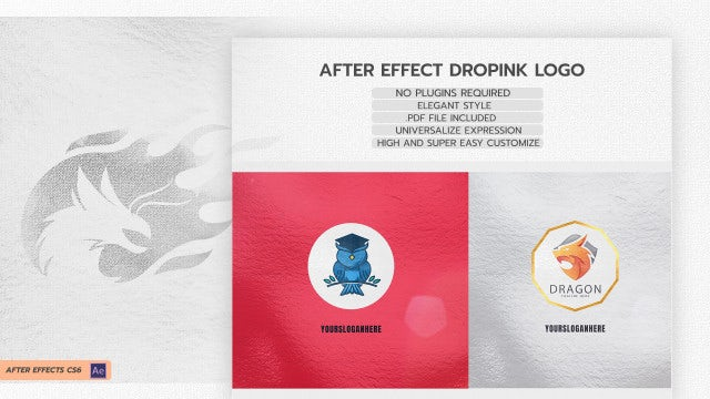 Drop Ink Logo: After Effects Templates