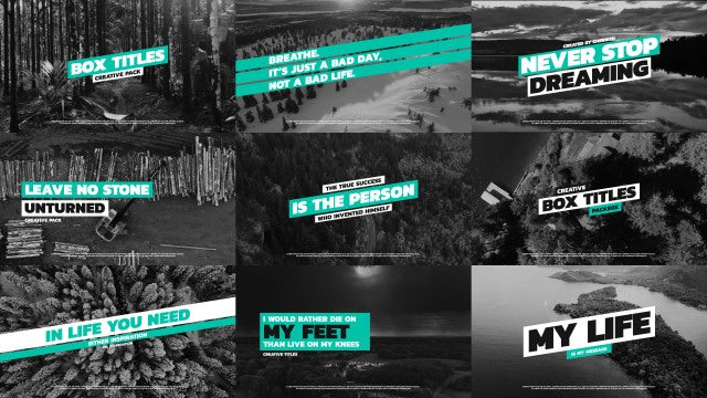 Box Typography Titles: Premiere Pro Templates
