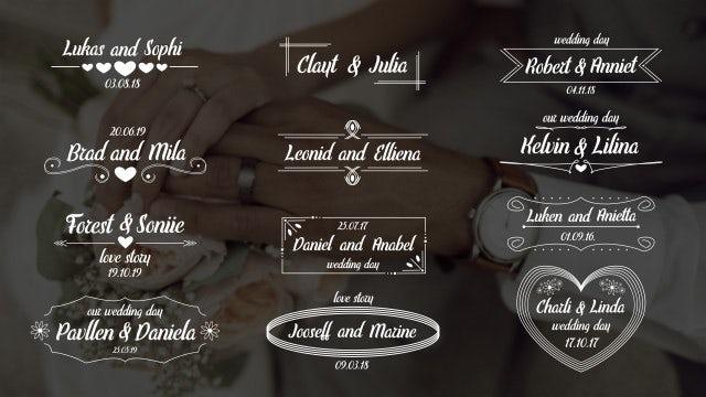 Wedding Titles Elegant - Motion Graphics Templates | Motion