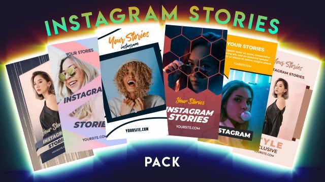 Instagram Stories Pack 23: After Effects Templates