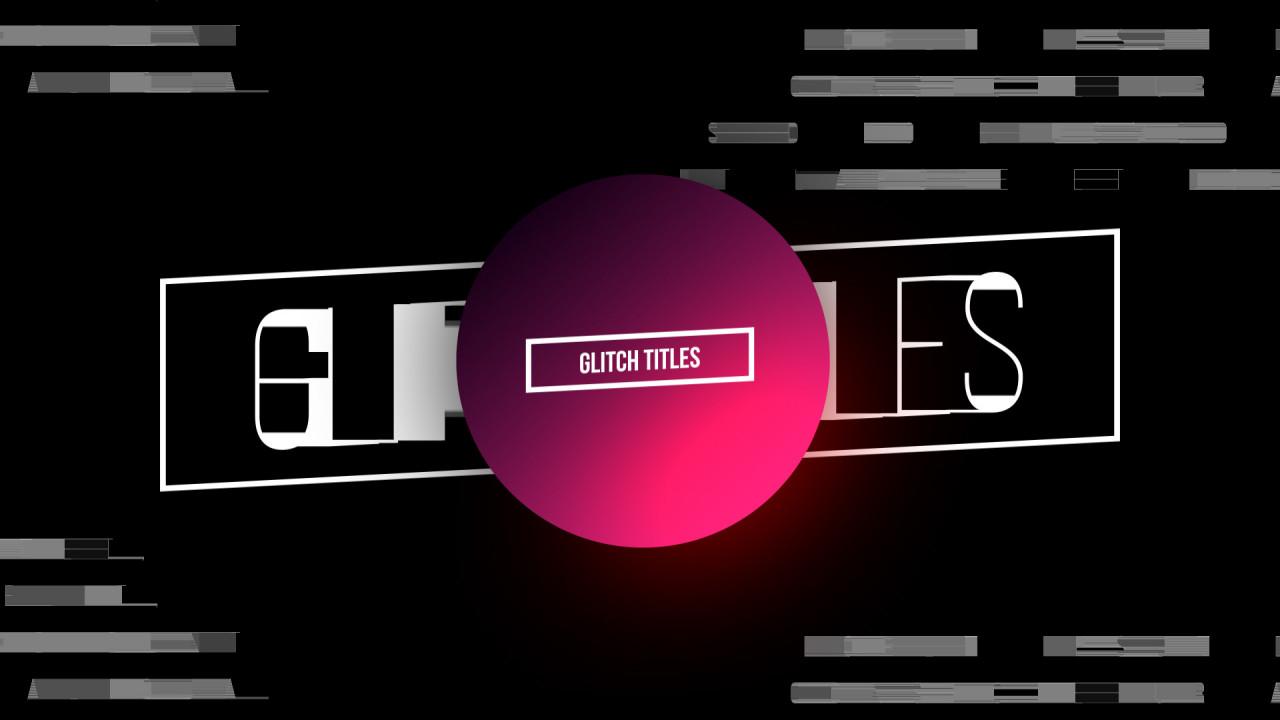 Glitch Titles - Final Cut Pro Templates | Motion Array