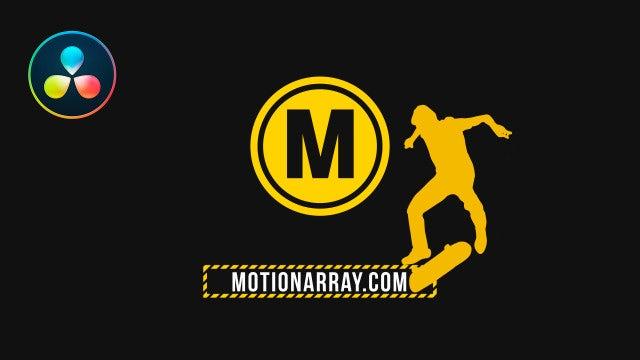Skater Logo: DaVinci Resolve Templates
