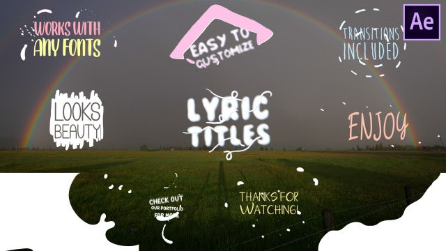 Cartoon Lyric Titles: After Effects Templates