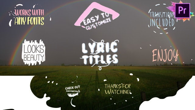 Cartoon Lyric Titles: Motion Graphics Templates
