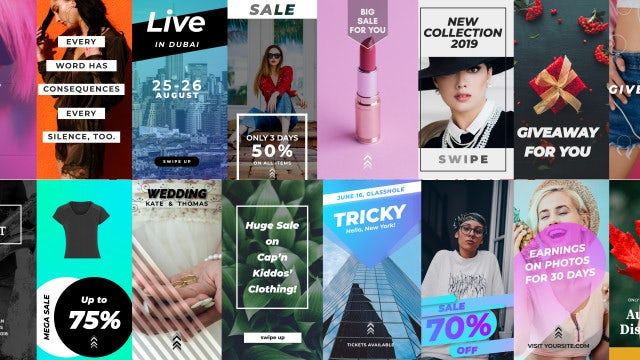21 Instagram Stories: After Effects Templates