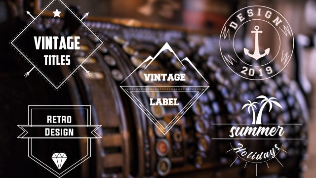 Vintage Titles: After Effects Templates