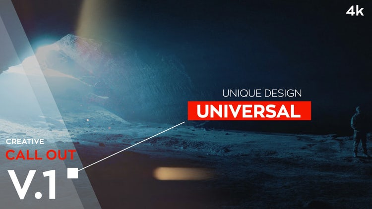 Creative Call Out 4k V1: Motion Graphics Templates