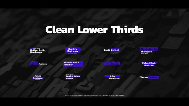Clean Lower Thirds: Premiere Pro Templates