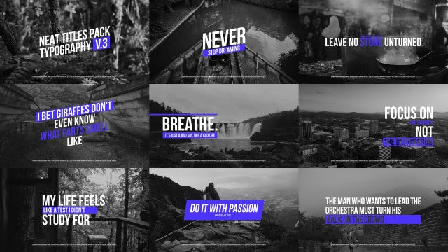 Neat Typography V.3: Premiere Pro Templates
