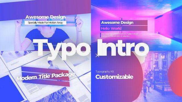 Typo Intro: Premiere Pro Templates