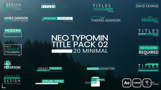 Neo Typomin Title Pack 02: After Effects Templates
