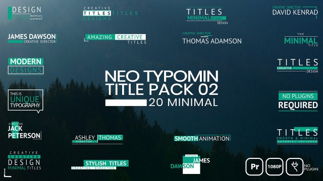 Neo Typomin Title Pack 02: Motion Graphics Templates