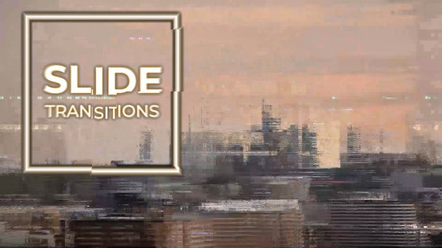 Slide Transitions: After Effects Presets