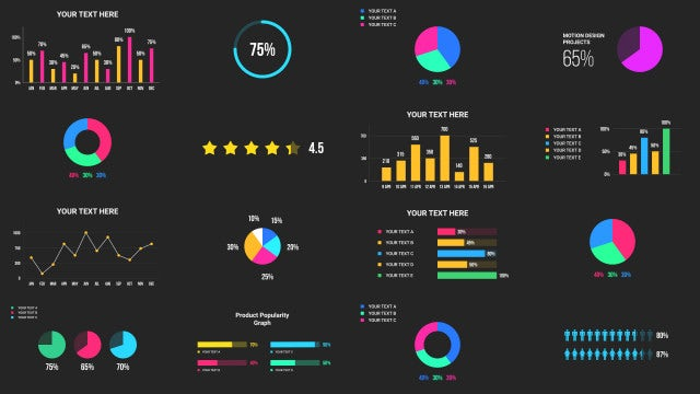40 Infographics Pack - Motion Graphics Templates | Motion Array