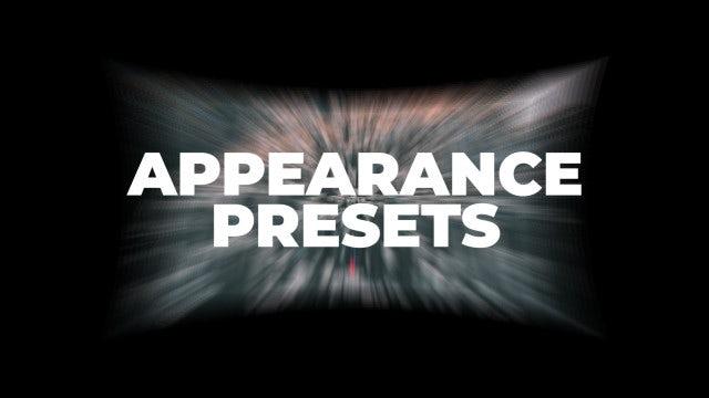 Appearance Presets: Premiere Pro Presets