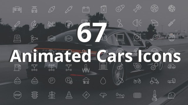 Animated Cars Icons Pack: After Effects Templates