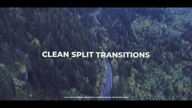 Clean Split Transitions: Premiere Pro Templates