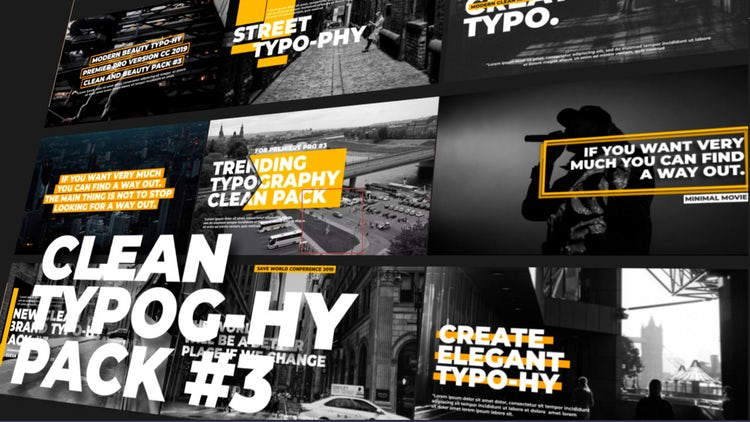 Typography Titles - Clean V3: Premiere Pro Templates