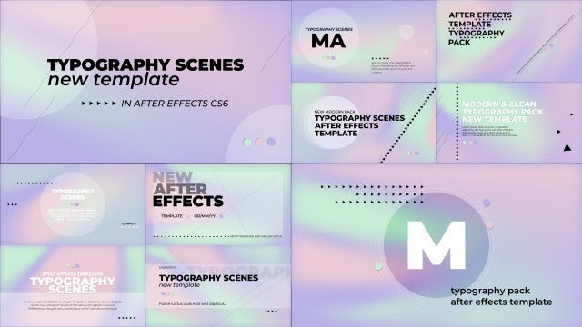 Typography Scenes Hologram Pack: After Effects Templates