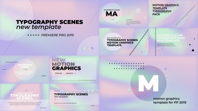Typography Scenes Hologram Pack: Motion Graphics Templates