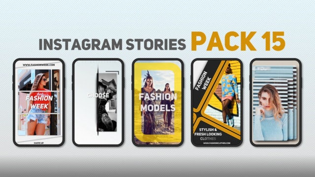 Instagram Stories Pack 15: After Effects Templates