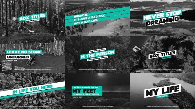 Box Typography Pack: After Effects Templates