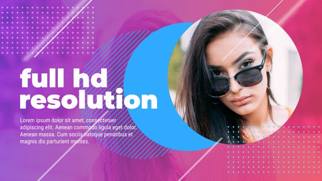 Glitch Dynamic Slideshow: After Effects Templates