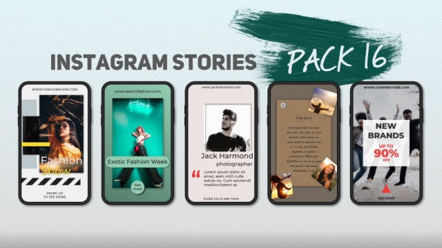 Instagram Stories Pack 16: After Effects Templates