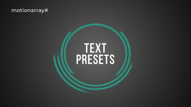 Text Presets: After Effects Presets