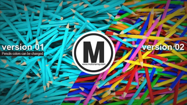 3D Pencils Logo Opener: After Effects Templates