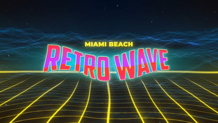 Retro Wave Intro #9: After Effects Templates