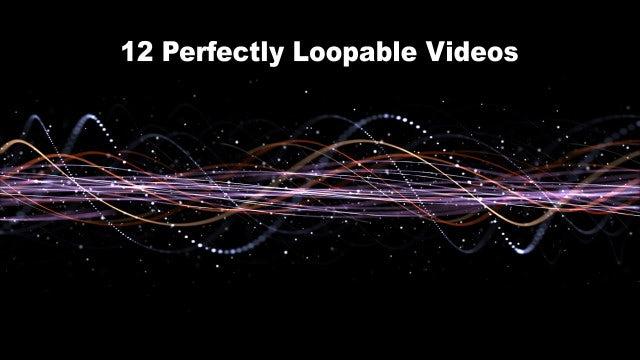 Intertwined Technology Fibers: Stock Motion Graphics