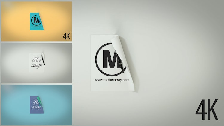 3D Paper Logo And Text Opener: After Effects Templates