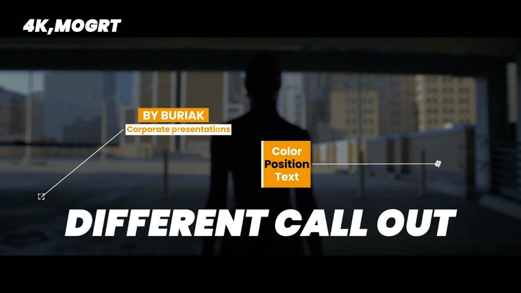 Different Call Out 4k: Motion Graphics Templates