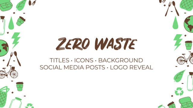 Zero Waste. Hand Drawn Pack: Premiere Pro Templates