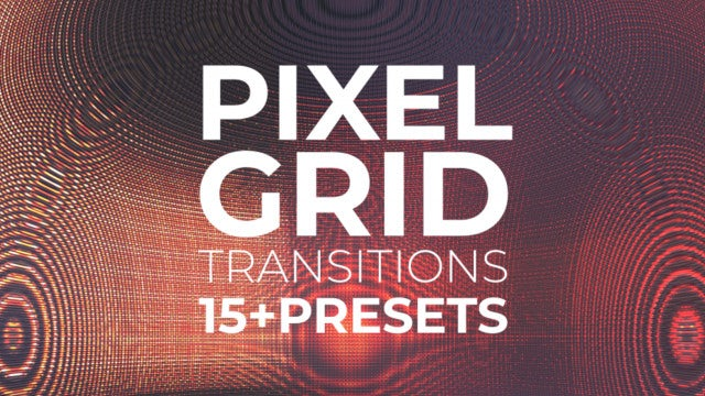Pixel Grid Transitions: After Effects Presets