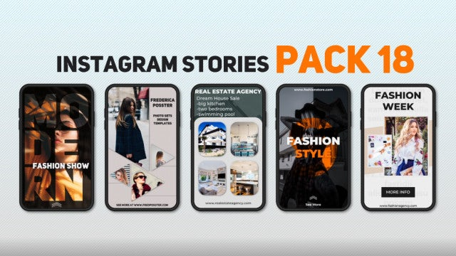 Instagram Stories Pack 18: After Effects Templates