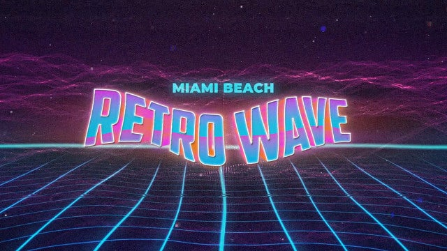 Retro Wave Intro 9: Motion Graphics Templates
