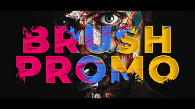 Colorful Brush Promo: After Effects Templates