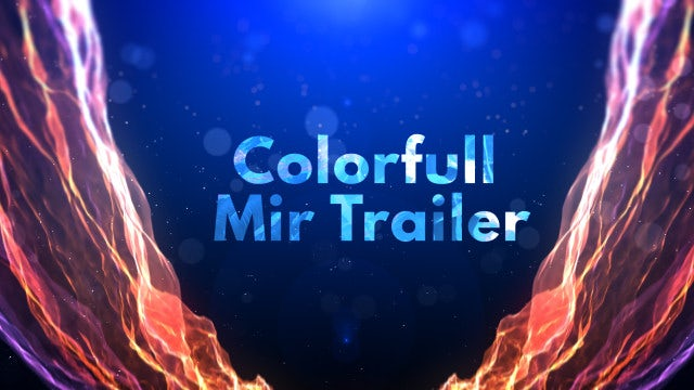 Colorful Mir Trailer: After Effects Templates