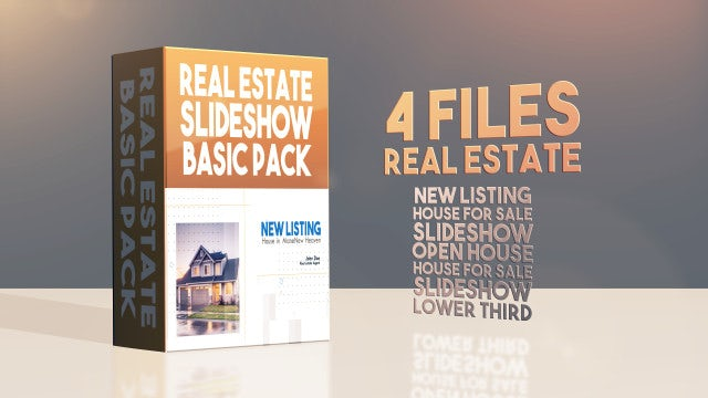 Real Estate Slideshows Basic Pack: After Effects Templates