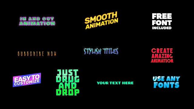 Cartoon Titles: After Effects Templates