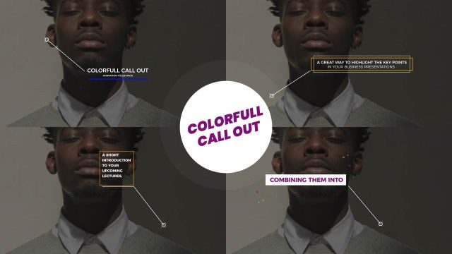 Colorfull Call Out Titles 4K: Motion Graphics Templates