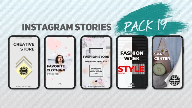 Instagram Stories Pack 19: After Effects Templates