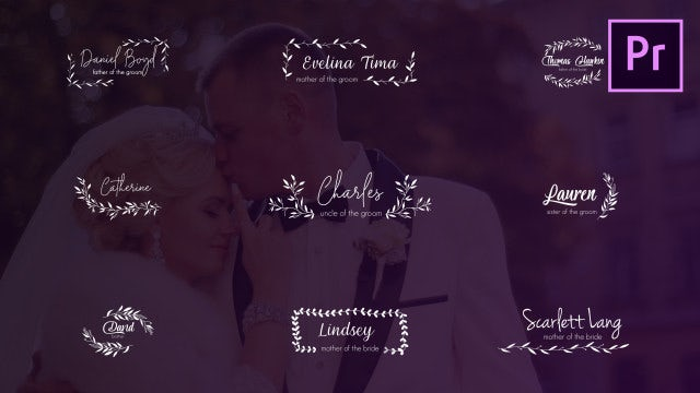 Wedding Titles And Lower Thirds: Motion Graphics Templates