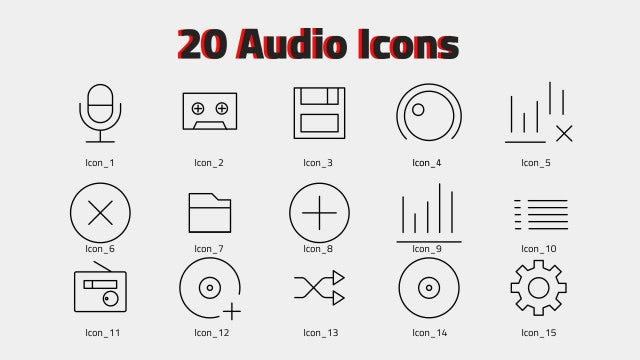 Audio Icons: After Effects Templates