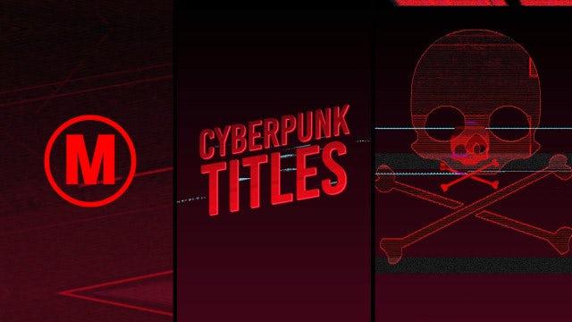 Cyberpunk Titles: Premiere Pro Templates