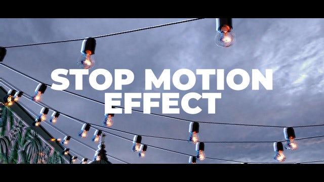Stop Motion Effect: Premiere Pro Presets
