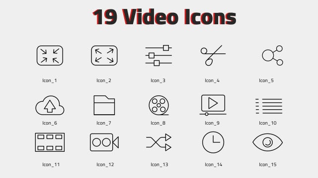 Video Icons: Motion Graphics Templates