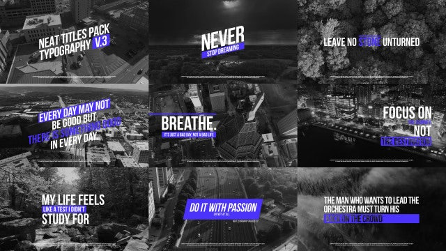 Neat Typography V.3: After Effects Templates